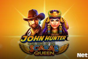 John Hunter Scarab Queen slots com tema de aventura