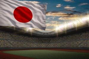 東京オリンピック 日本国旗